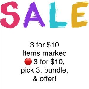 Other - 🔴3 FOR $10 SALE